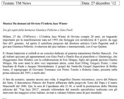 27/12/2012 TM News